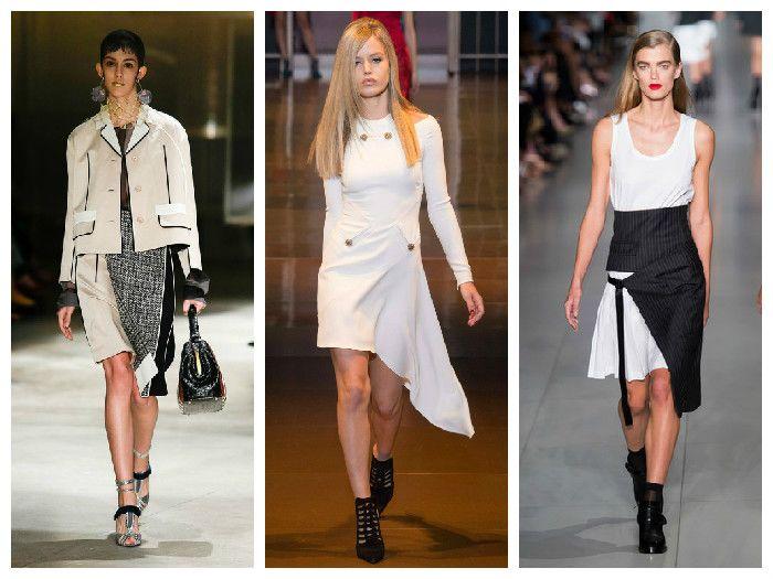 Модные юбки 2016: модели с запахом