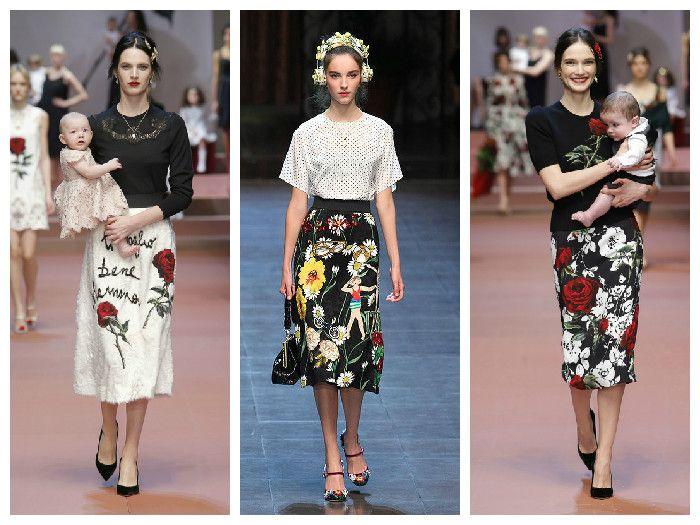 Модные юбки 2016 с цветочным принтом