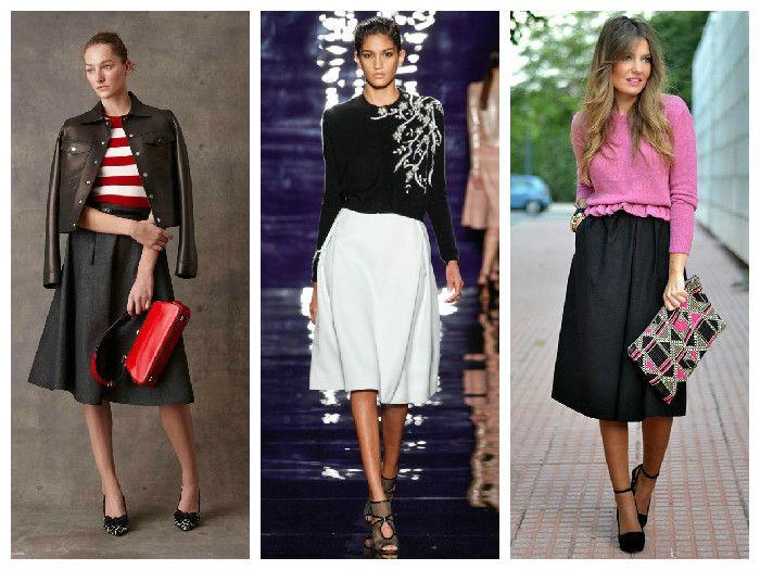Модные юбки 2016: расклешенные модели
