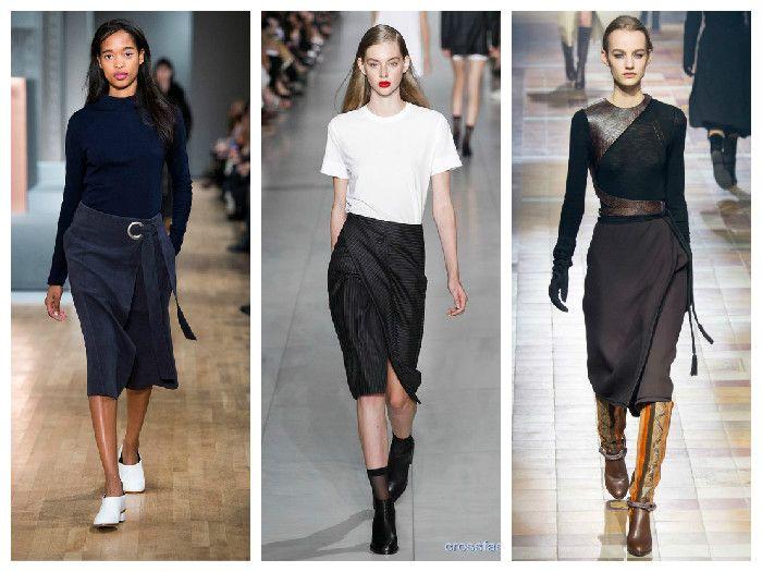 Модные юбки 2016 с запахом