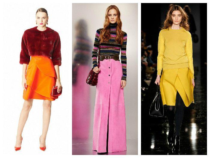Модные юбки весна – лето 2016: яркие оттенки