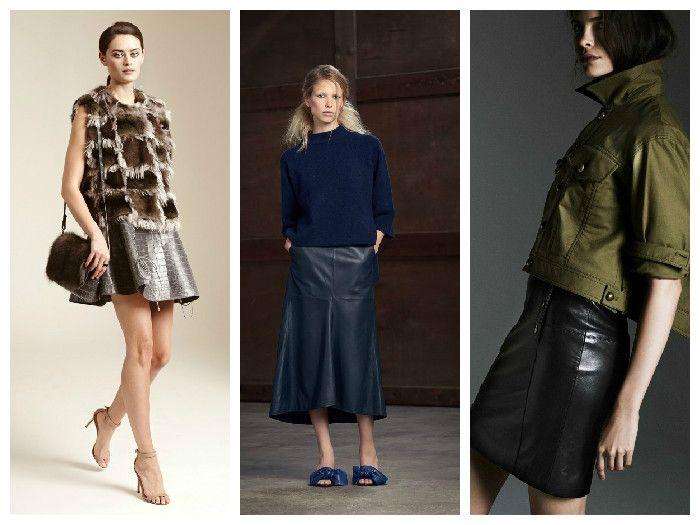 Модные юбки осень-зима 2016: темная цветовая гамма