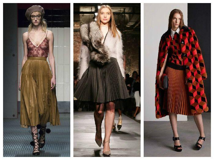 Модные плиссированные юбки