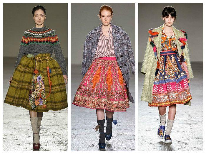 Модные юбки 2016 с этническим принтом
