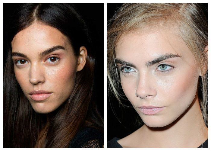 Модный макияж 2016: акцент на брови