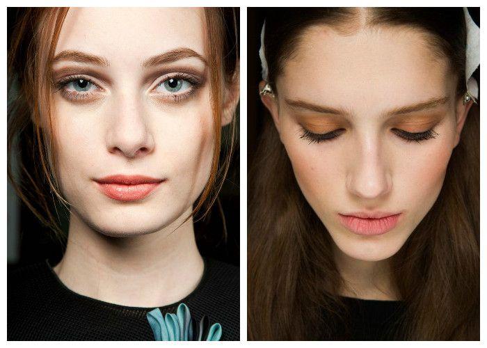 Модный макияж 2016: персиковые тени
