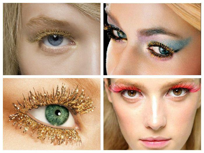 Новогодний макияж: накладные ресницы