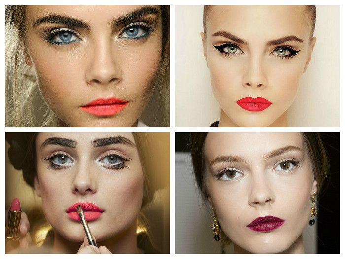 Новогодний макияж: акцент на губы
