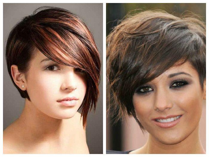 Прически для круглого лица на короткие волосы
