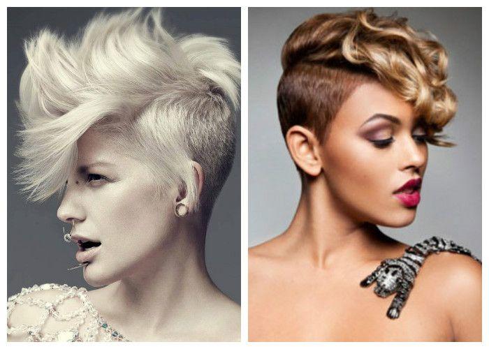 Прически на короткие волосы: имитация ирокеза