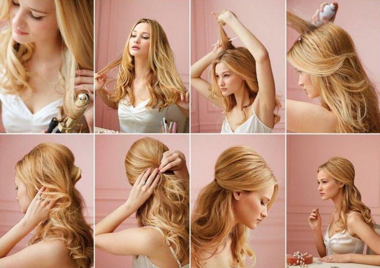 Пошаговые инструкции по выполнению вечерних причесок для средних и длинных волос