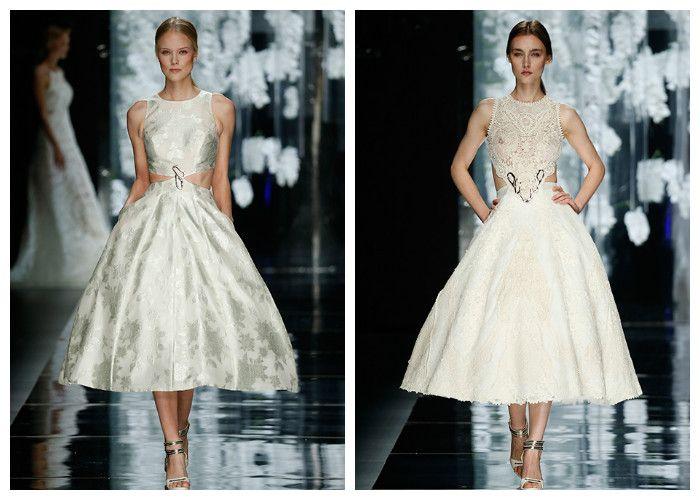 Красивые свадебные платья чайной длинны: Yolan Cris