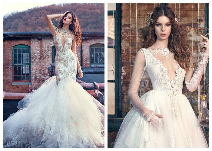 Свадебное платье с глубоким декольте Galia Lahav