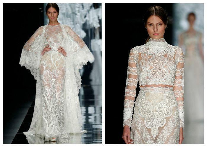 Кружевное свадебное платье Yolan Cris