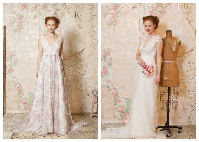 Свадебное платье с глубоким декольте Ivy & Aster