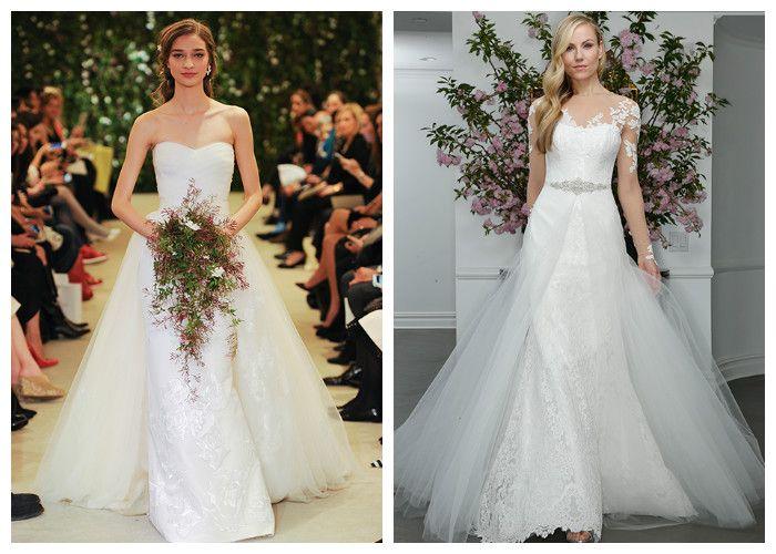 Свадебное платье с двойной юбкой