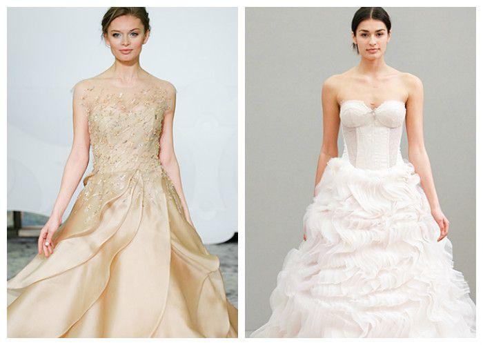 Свадебное платье с юбкой волнами
