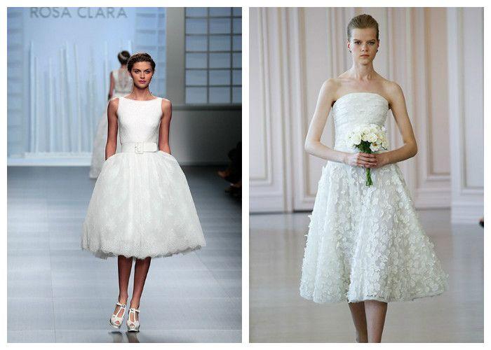 Свадебные платья средней длины