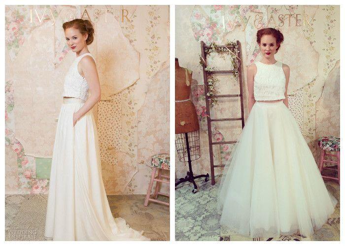 Свадебные платья с кроп-топом