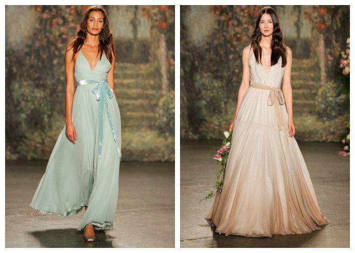 Свадебные платья с цветным поясом