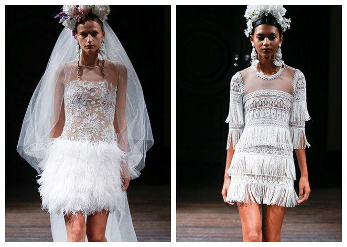 Короткие свадебные платья: Naeem Khan