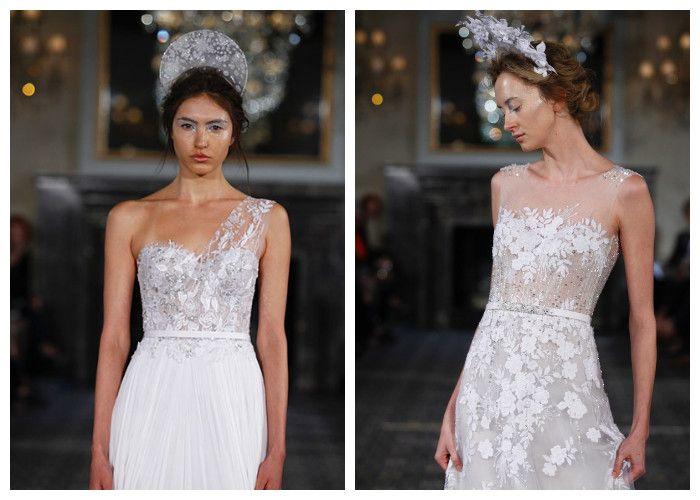 Свадебные платья с объемными аппликациями