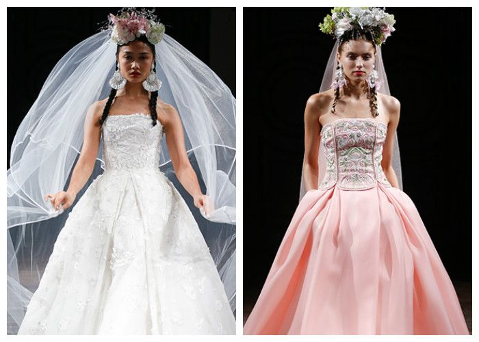 Свадебные платья с вышивкой на корсете