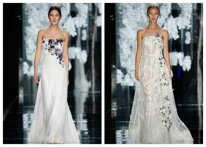 Свадебные платья с цветочным декором