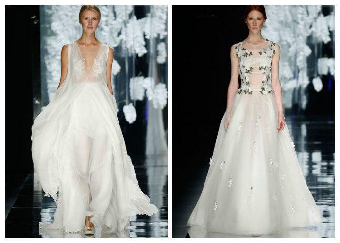 Свадебные платья с прозрачными вставками