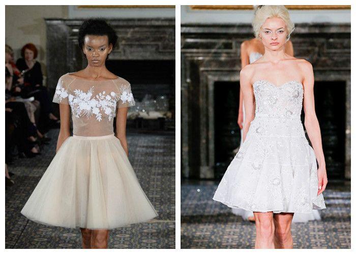 Короткие свадебные платья: Mira Zwillinger