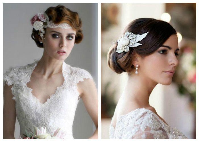 Прически на свадьбу на средние волосы