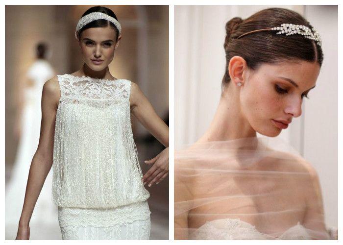 Прически на свадьбу 2017 с диадемой и повязкой