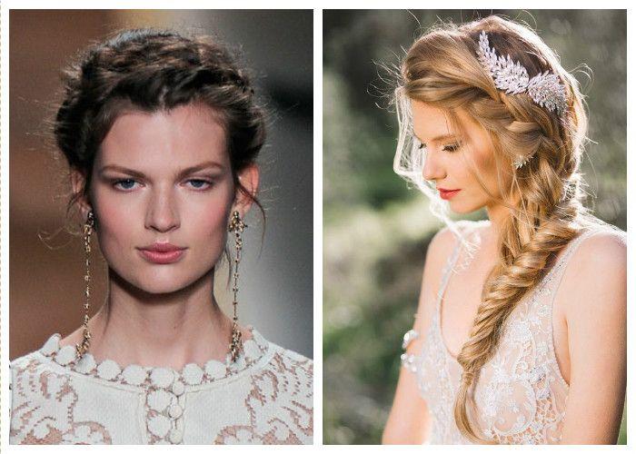 Прически на свадьбу с косой: фото
