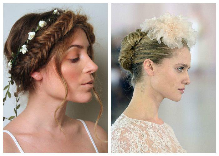 Красивые прически на свадьбу с косой, цветами и заколками