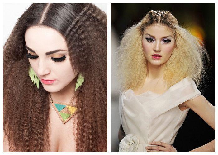 Вечерние прически: гофрированные волосы