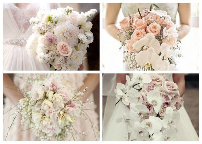Букет невесты в спокойных тонах (фото)