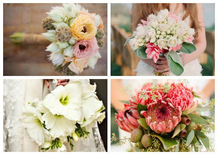 Букеты невесты из экзотических цветов