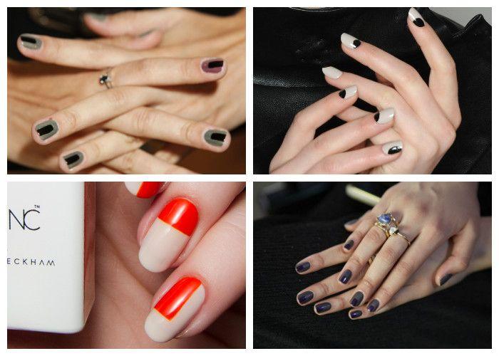 Дизайн ногтей: шеллак. Модные геометрические рисунки.