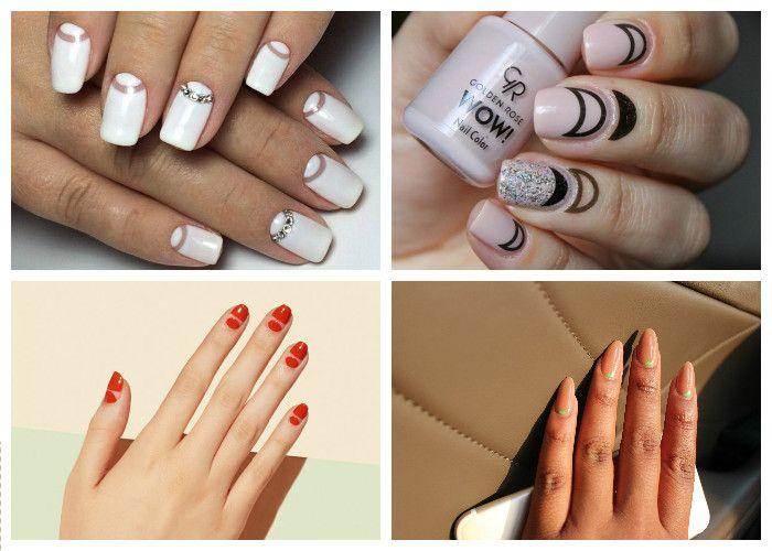 Дизайн ногтей: шеллак. Новые вариации лунного маникюра.