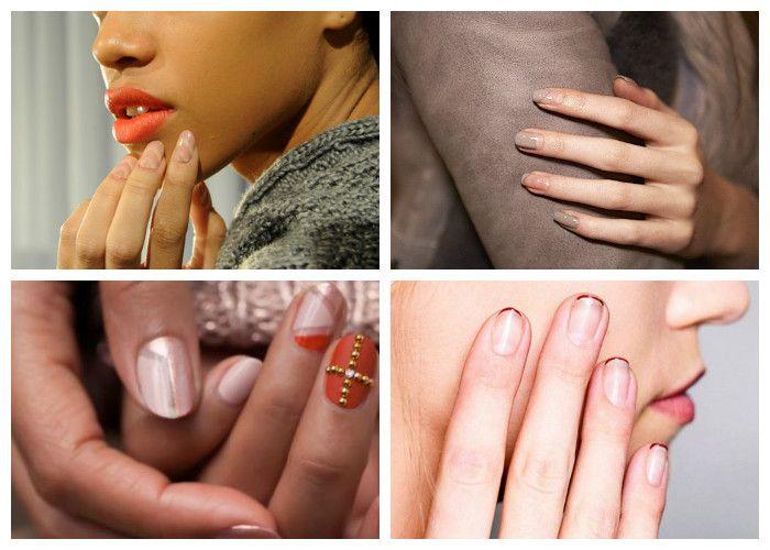 Дизайн ногтей: шеллак. Negative Space Nail Art