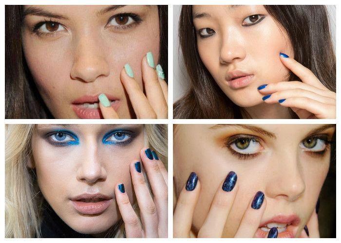 Дизайн ногтей: шеллак. Модные цвета сезона: все оттенки синего