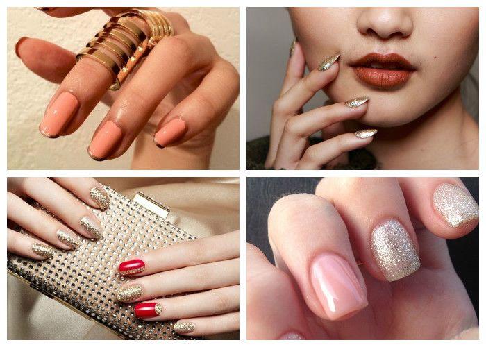 Дизайн ногтей: шеллак. Модные цвета сезона: золото и серебро
