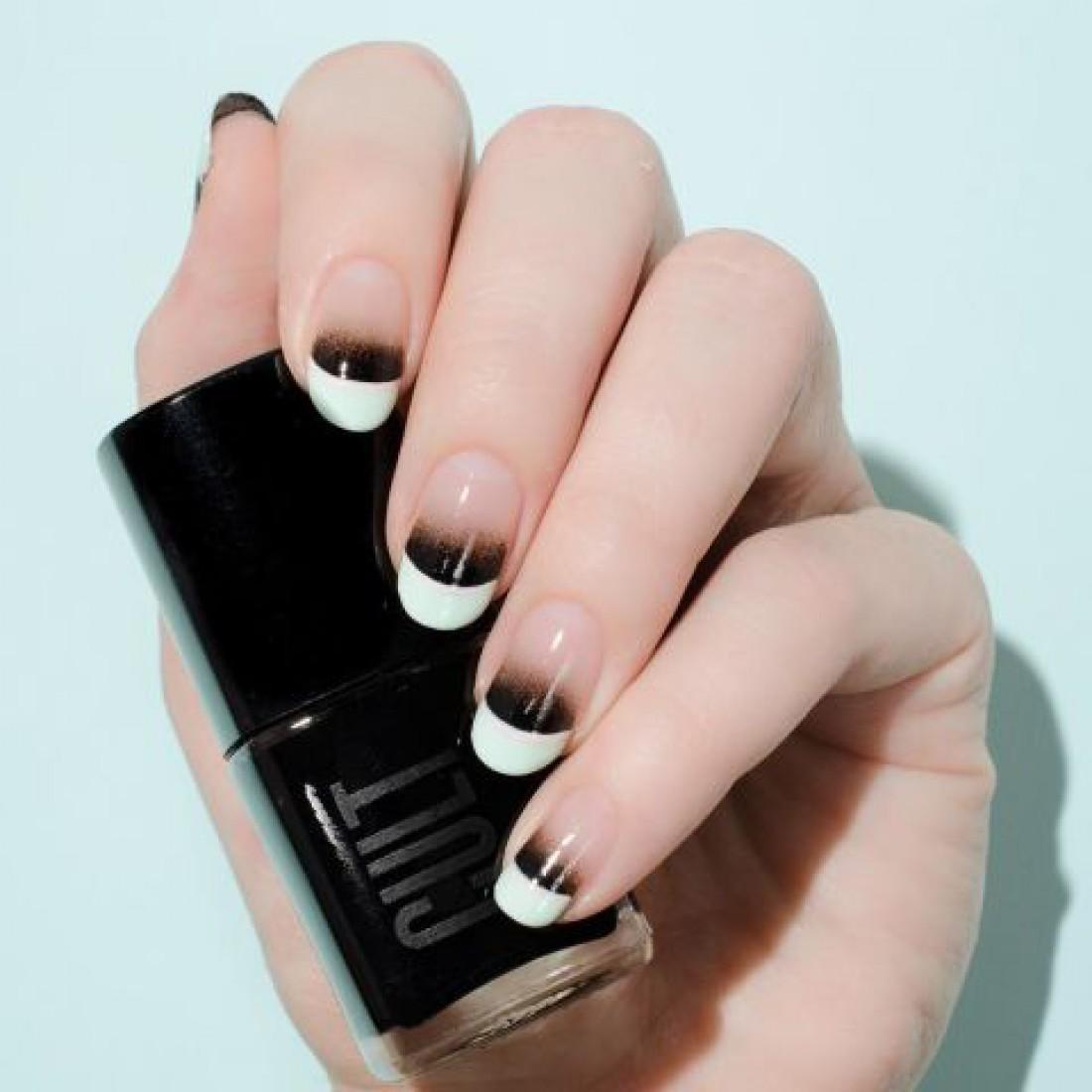 Маникюр на короткие ногти: размытый и прямой французский (фото)