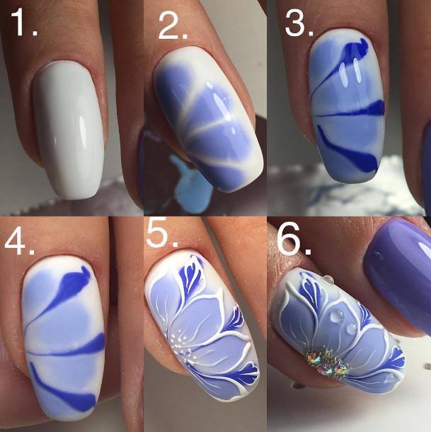 Пошаговая инструкция выполнения рисунка на ногтях