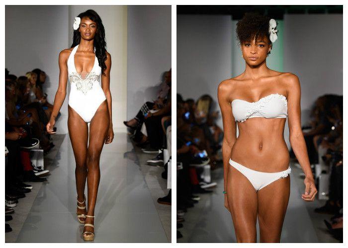 Модные белые купальники