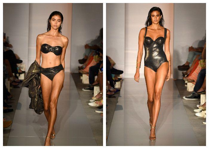 Модные купальники в стиле глэм-металлик: GOTTEX