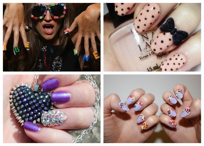 Маникюр на короткие ногти: модные аксессуары (фото)