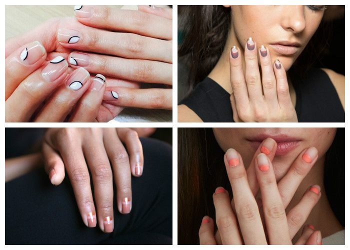 Маникюр на короткие ногти: прозрачный (фото)