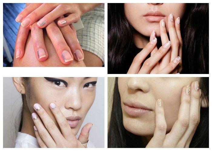 Маникюр на короткие ногти: золото и серебро (фото)