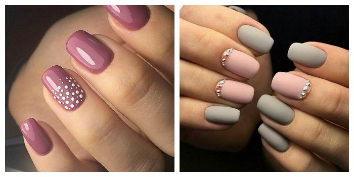 Маникюр на короткие ногти в пастельной цветовой гамме